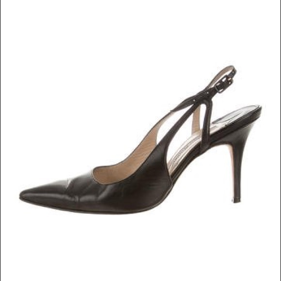 edf8b494217 Manolo Blahnik Slingback Heel (black leather)